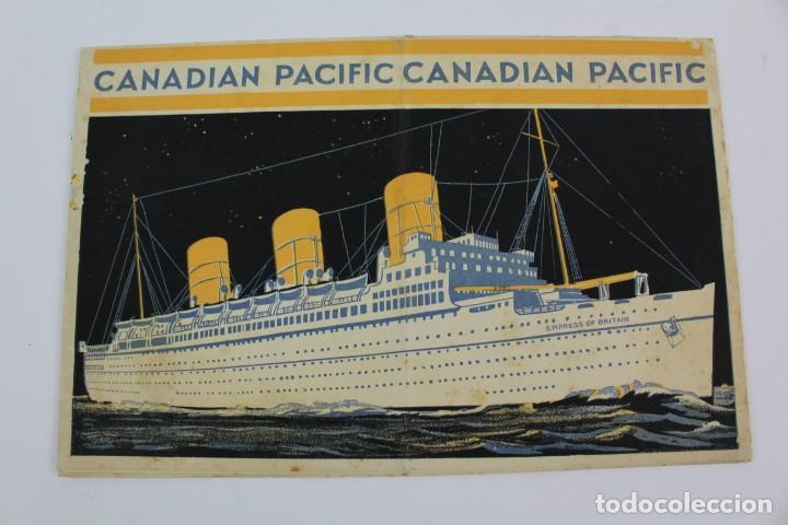PR- 278. FOLLETO CANADIAN PACIFIC. THE ST.LAURENCE ROUTE. (Coleccionismo - Líneas de Navegación)