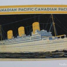 Líneas de navegación: PR- 278. FOLLETO CANADIAN PACIFIC. THE ST.LAURENCE ROUTE. . Lote 151711662