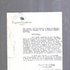 Linhas de navegação: COMPAÑIA TRASATLANTICA. MADRID. GIL DE BIEDMA. CERTIFICADO DE PRESTACION DE SERVICIO. 1936. Lote 208676585