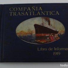 Líneas de navegación: PR- 282. COMPAÑIA TRANSATLANTICA. BARCELONA. 1919.. Lote 151823610