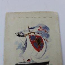 Líneas de navegación: PR-286. FOLLETO FLANDRE, COMPAGNIE GENERALE TRANSATLANTIQUE.. Lote 151844698