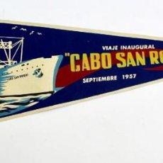 Líneas de navegación: PR- 355. BANDERIN DE TELA CABO SAN ROQUE, SEPTIEMBRE 1957. VIAJE INAUGURAL. SANTOS.. Lote 152316190