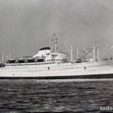 Líneas de navegación: FG-442. FOTOGRAFIA TRASATLANTICO VERDI. ITALIAN LINE. CONSTRUÍDO EN 1951.. Lote 153126850