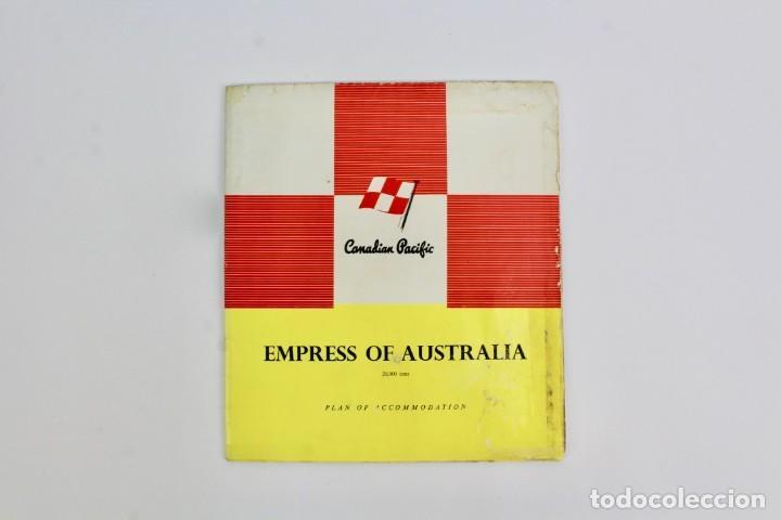 PR-768 PLAN DE ACOMODACION.EMPRESS OF AUSTRALIA.CANADIAN PACIFIC.MEDIADOS DE SIGLO XX. (Coleccionismo - Líneas de Navegación)