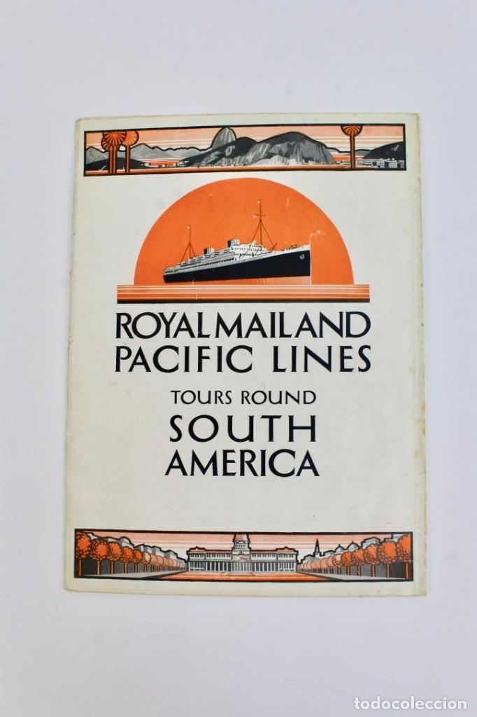 484dd00e26 PR-775 CATALOGO DE BARCO DESPLEGABLE.ROYAL MAILAND PACIFIC LINES TOURS  ROUND SOUTH AMERICA