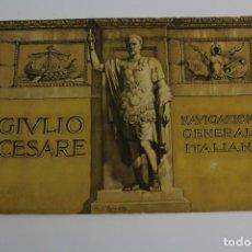 Líneas de navegación: PR-839. FOLLETO PROMOCIONAL GIULIO CESARE, NAVIGAZIONE GENERALE ITALIANA.. Lote 153980110