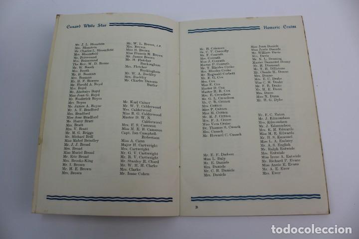 Líneas de navegación: PR- 870. PROGRAMA CUNARD WHITE STAR CRUISE TO GREECE, ITALY AND THE RIVIERA. HOMERIC. 1935. - Foto 3 - 154816770