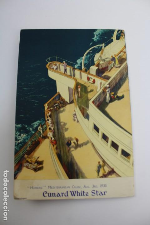 Líneas de navegación: PR- 870. PROGRAMA CUNARD WHITE STAR CRUISE TO GREECE, ITALY AND THE RIVIERA. HOMERIC. 1935. - Foto 6 - 154816770