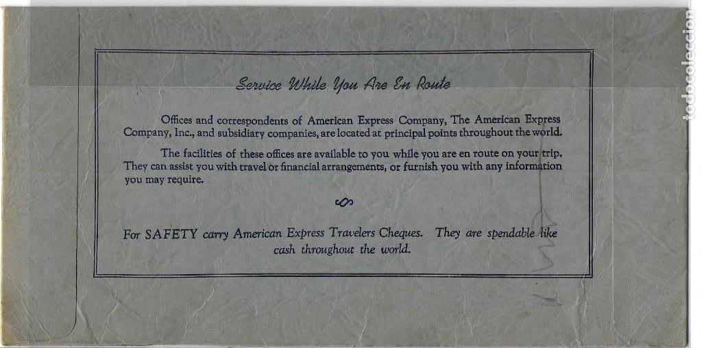 Líneas de navegación: PR- 885. AMERICAN EXPRESS TRAVEL SERVICE. 1953. - Foto 2 - 155219370