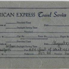 Líneas de navegación: PR- 885. AMERICAN EXPRESS TRAVEL SERVICE. 1953.. Lote 155219370