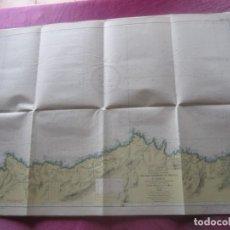 Líneas de navegación: MAPA NAVAL LINEA DE NAVEGACION DE SAN ESTEBAN DE PRAVIA A LUARCA. Lote 155468466