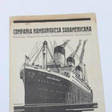 Líneas de navegación: PR- 898. FOLLETO COMPAÑIA HAMBURGUESA SUDAMERICANA. AÑO 1927.. Lote 155591706