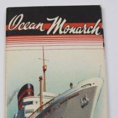 Líneas de navegación: PR-899. OCEAN MONARCH. FURNESS BERMUDA LINE. 1950.. Lote 155595582
