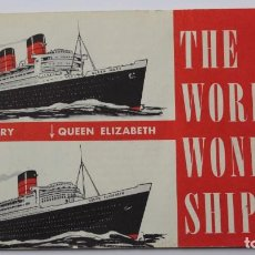 Líneas de navegación: PR-901. THE WORLD'S WONDER SHIPS. QUEEN MARY QUEEN ELISABETH.. Lote 155597514