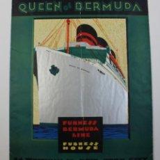 Líneas de navegación: PR- 903. FOLLETO PROMOCION QUEEN BERMUDA. FURNESS BERMUDA LINE, EUROPEES HOUSE. . Lote 155598526