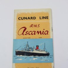 Líneas de navegación: PR- 906. CUNARD LINE. R.M.S. ASCANIA. PLAN OF FIRST CLASS ACCOMODATION. 1952. . Lote 155600642