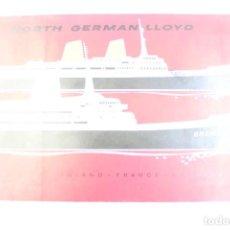 Líneas de navegación: PR- 913. NORD GERMAN LLOYD. EUROPE Y BREMEN. . Lote 155605842