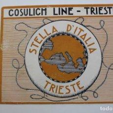 Líneas de navegación: PR- 912. CONSULICH LINE. TRIESTE. STELLA D' ITALIA.. Lote 155606286