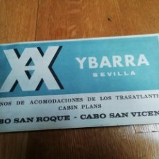 Líneas de navegación: YBARRA PLANOS DE ACOMODACIONES CABO SAN ROQUE CABO SAN VICENTE. Lote 155809982