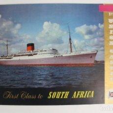Líneas de navegación: PR-940 CATALOGO DE BARCO.FIRST CLASS TO SOUTH AFRICA BY UNION CASTLE.MEDIADOS DE SIGLO XX.. Lote 155949158