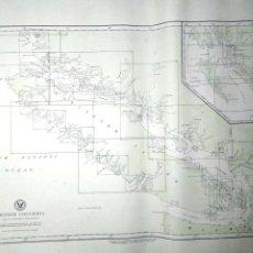 Líneas de navegación: CARTA DE NAVEGACION. BRITISH COLUMBIA. INDEX TO HYDROGRAPHIC OFFICE CHARTS. MARZP, 1916.. Lote 155955130