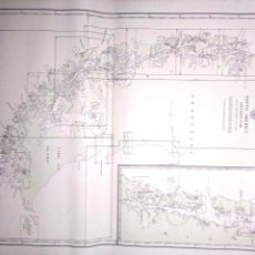 Líneas de navegación: CARTA DE NAVEGACION. SOUTH AMERICA SOUTHERN PART. INDEX TO HYDROGRAPHIC OFFICE CHARTS. MARZP, 1916.. Lote 155955258