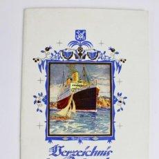 Líneas de navegación: PR-943 LISTA DE PASAJEROS .NORDDEUTSCHER LLOYD BREMEN.STUTTGART.AÑO 1928.. Lote 155956138