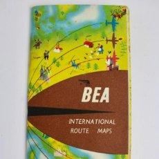 Líneas de navegación: PR-950 CATALOGO DE AVION.BEA INTERNATIONAL ROUTE MAPS.BRITISH EUROPEAN AIRWAIS .AVIATION BP SERVICE. Lote 156049070