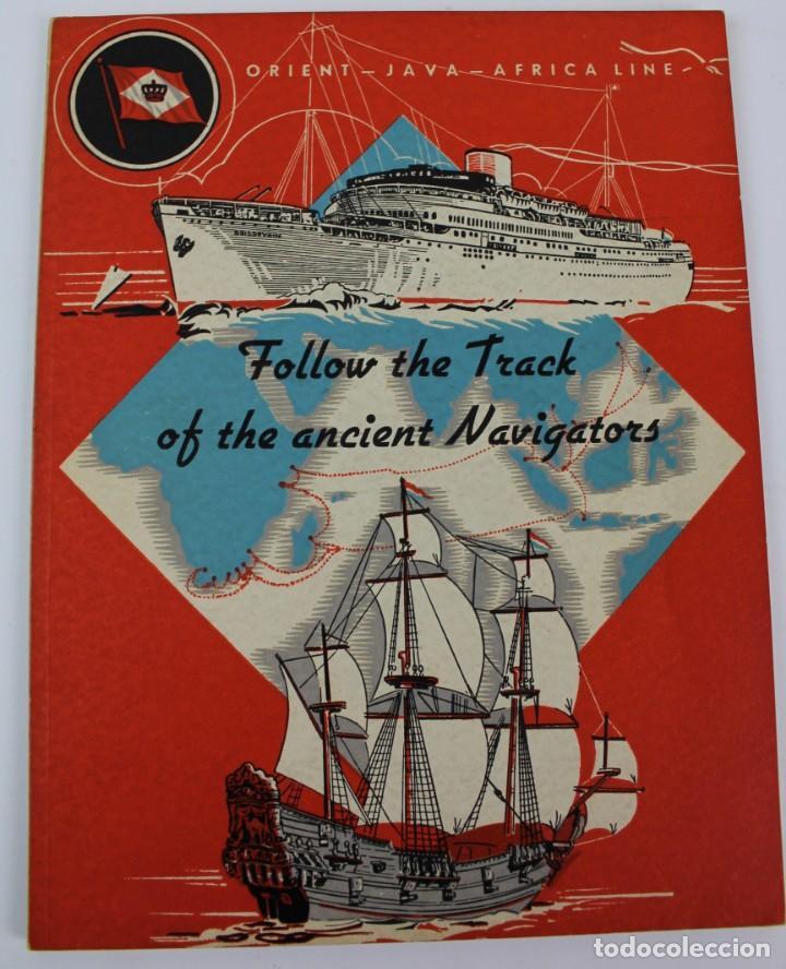 PR-967. FOLLETO ORIENT JAVA, AFRICA LINE. FOLLOW THE TRACK OF THE ANCIENT NAVIGATORS. 1938. (Coleccionismo - Líneas de Navegación)