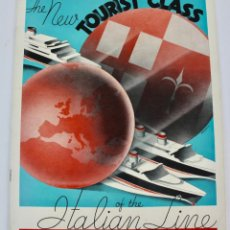 Líneas de navegación: PR- 966. THE NEW TOURIST CLASS OF THE ITALIAN LINE. 1933.. Lote 156188598