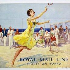 Líneas de navegación: PR-971. ROYAL MAIL LINE. SPORTS ON BOARD. 1930.. Lote 156222222