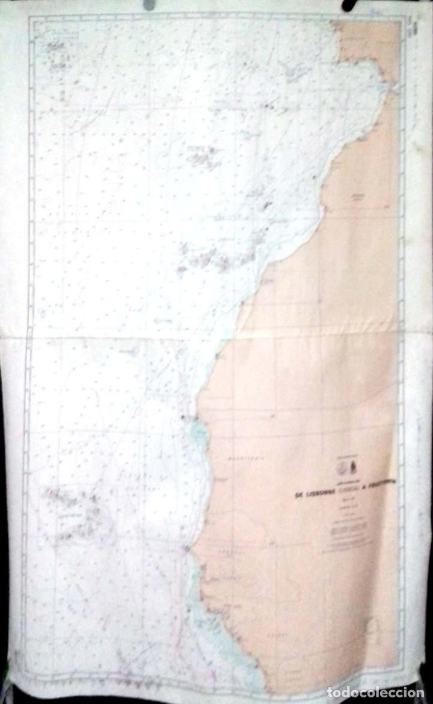 CARTA DE NAVEGACION. OCEAN ATLANTIQUE NORD. LISBOA. 1978. LEER. (Coleccionismo - Líneas de Navegación)