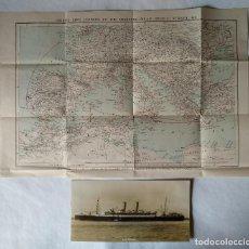 Líneas de navegación: SS ORMONDE, ITINERARIO DE VIAJE EN 1925. Lote 157392377