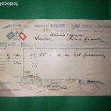 Líneas de navegación: CONOCIMIENTO DE EMBARQUE 1906. Lote 160639834