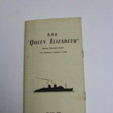 Líneas de navegación: PR-1123. PLAN OF CABIN CLASS ACCOMMODATION. R.M.S. QUEEN ELIZABETH. CUNARD LINE. JAN 1960.. Lote 163353598