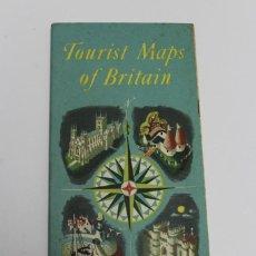 Líneas de navegación: PR-1124. TOURIST MAPS OF BRITAIN. 16 PAGINAS CON MAPAS ILUSTRADOS.. Lote 163353798