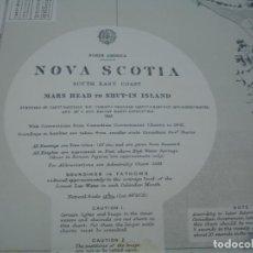 Líneas de navegación: CARTA NÁUTICA NUEVA ESCOCIA CANADA. Lote 163668566