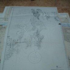 Líneas de navegación: CARTA NÁUTICA AÑOS 40-60 COSTA TASMANIA.. Lote 163687642