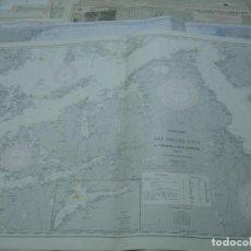 Líneas de navegación: CARTA NÁUTICA AÑOS 40-60 COSTA NORUEGA. Lote 163692654