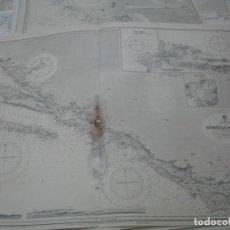 Líneas de navegación: CARTA NÁUTICA AÑOS 40-60 COSTA CROACIA. Lote 163697874