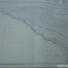 Líneas de navegación: CARTA NÁUTICA AÑOS 40-60 RUSA. Lote 163707954