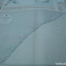 Líneas de navegación: CARTA NÁUTICA AÑOS 40-60 AFRICA. Lote 163708070
