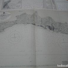 Líneas de navegación: CARTA NÁUTICA AÑOS 40-60 COSTA ITALIA. Lote 163711034