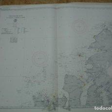 Líneas de navegación: CARTA NÁUTICA AÑOS 40-60 COSTA NORUEGA.. Lote 163718986