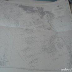 Líneas de navegación: CARTA NÁUTICA AÑOS 40-60 COSTA NORUEGA.. Lote 163721434