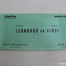 Líneas de navegación: PR-1144. PLANO BARCO S.S LEONARDO DA VINCI, TURBONAVE/STEAMSHIP. DECK PLAN. SETTEMBRE 1973.. Lote 163943142