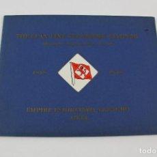 Líneas de navegación: PR-1158. THE CLAN LINE STEAMERS LIMITED. 1878-1938.. Lote 164172626