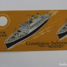 Líneas de navegación: PR-1177. DECK PLANS. CONSTITUTION.INDEPENDENCE. FLAGSHIPS OF AMERICAN EXPORT LINES.JUNE 1960.. Lote 164577690