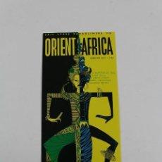 Líneas de navegación: PR-1185. ORIENT/AFRICA. LYKES LINES PASSENGER SERVICE. JULY 1961.. Lote 164705178