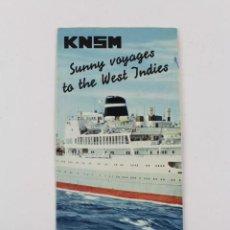 Líneas de navegación: PR-1206. FOLLETO KNSM. M/S. ORANGE NASSAU. PRINS DER NEDERLANDEN. 1966.. Lote 165208790